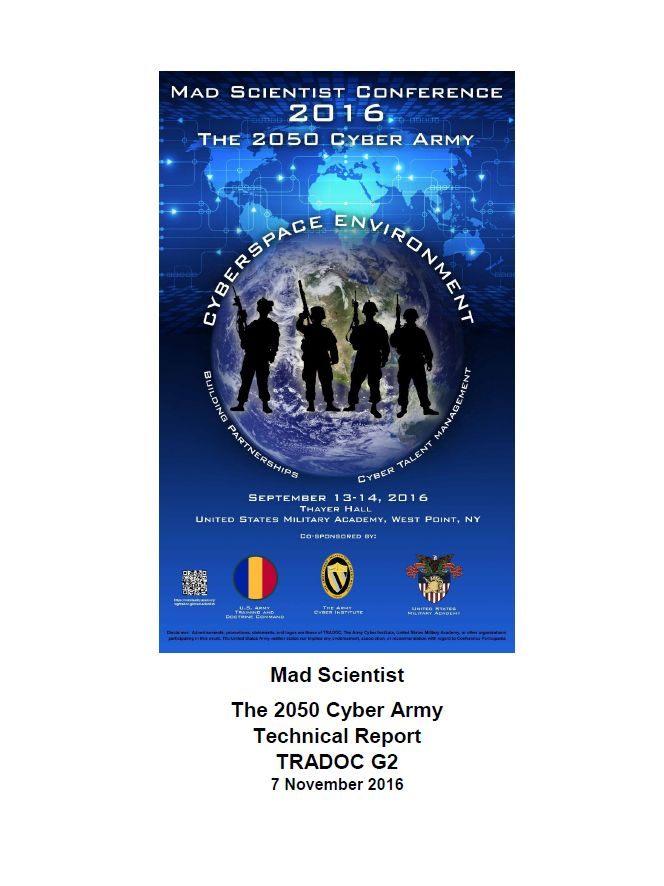 ARCHIVE - IISCA: U.S. Army Mad Scientist Conference Report: The 205...