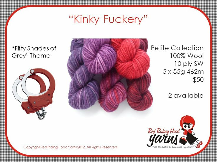 Kinky Fuckery - Fifty Shades of Grey | Red Riding Hood Yarns