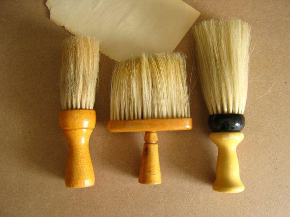 Antique Neck Dusters, Vintage Brushes, Gentlemans Brush ...