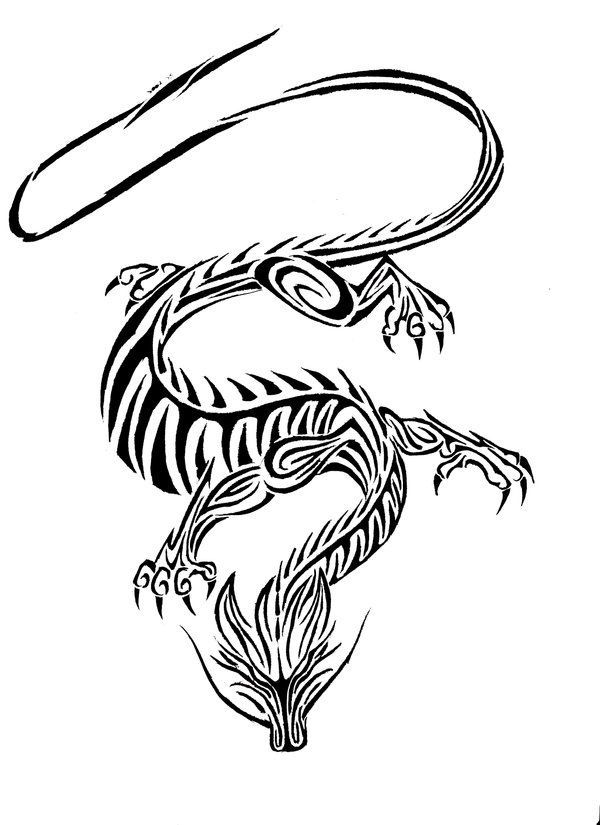 Chinese Earth Dragon Pictures Tribal Chinese Dragon By Lareless Tribal Dragon Tattoo Chinese Dragon Tattoos Dragon Tattoo