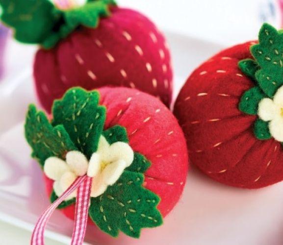 Strawberry Pincushion Template