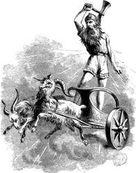 Kattahatur á Íslandi - svanurg.blog.is   Thor w/ goat-pulled cart/chariot