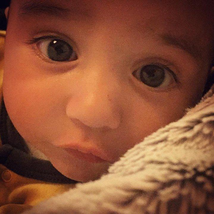 "Jodi Albert via instagram: ""These eyes hypnotise me! #love #beautifulblessing #sograteful #mummylovesyoubaby #pussinbootseyes"" https://instagram.com/p/71DdV7iYOn/?taken-by=jodialbert"