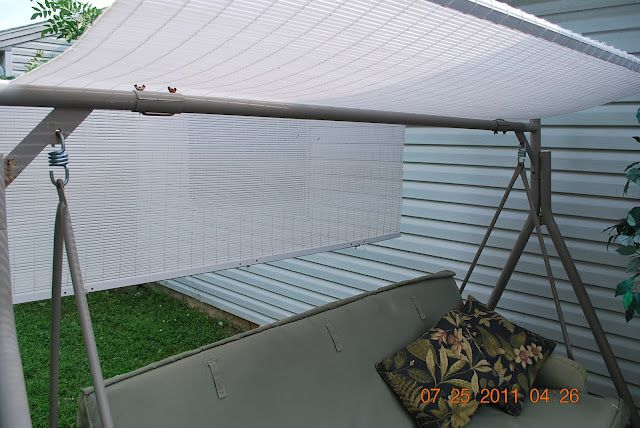When you need to replace the top on your swing, DIY with blinds.