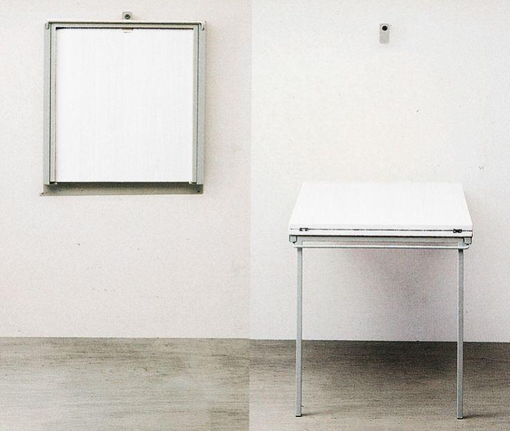 1000 idee su tavolo pieghevole su pinterest risparmio - Tavolo richiudibile a muro ...