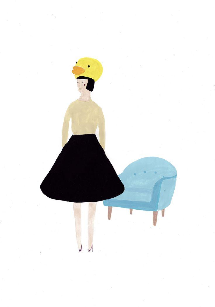 rubber ducky girl in céline resort 2014 | sainte maria.