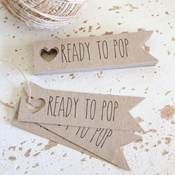 Rustic Ready To Pop Baby Shower Tags Pk20