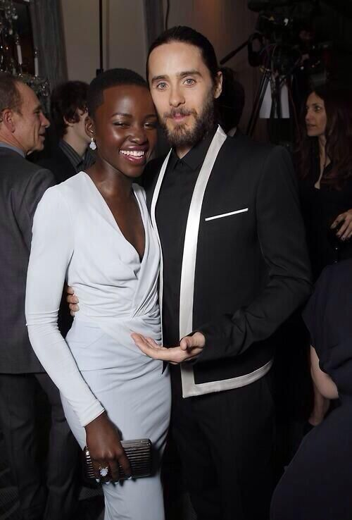 lupita nyong'o and jared leto~~~~~~Seriously......how are they NOT a couple?