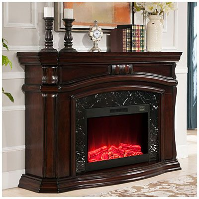 62 Grand Cherry Electric Fireplace At Big Btu 36 Fire Insert With 1 Year Warranty
