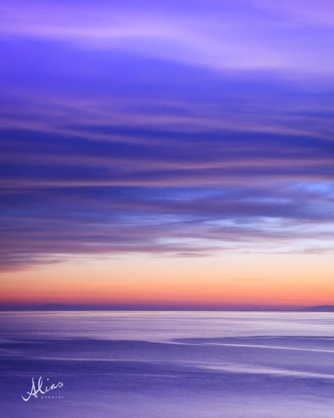 Purple, Landscape photo from Cinque Terre, Italy