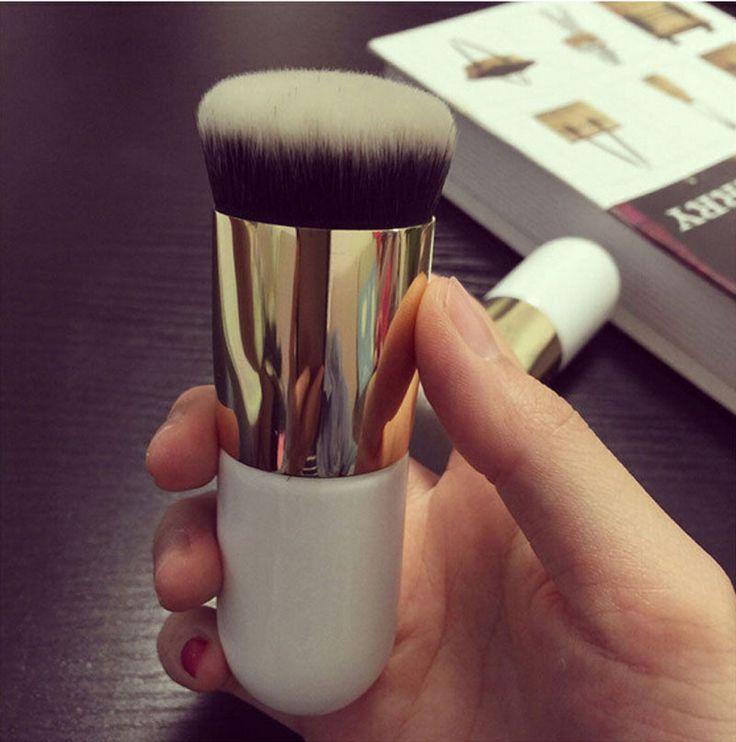 Pro Cosmetic Fashion Makeup Brush White Big Powder Brush Blush Brushes For Foundation Brush NA836