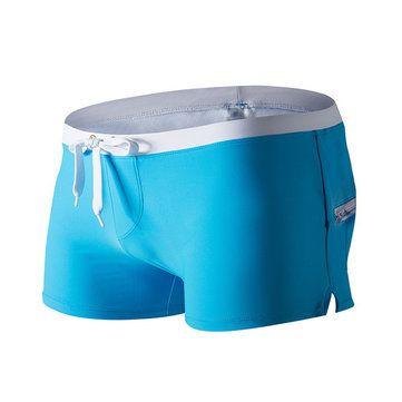 AUSTINBEM Fashion Beach Swimming Hot Spring Boxers Front Zipper Pocket Beach Shorts for Men Cheap - NewChic Mobile version.