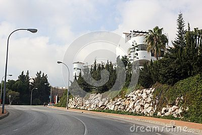 Street view Benalmadena Spain Andalucia. Cloudy weather. Picture taken in december 2015.