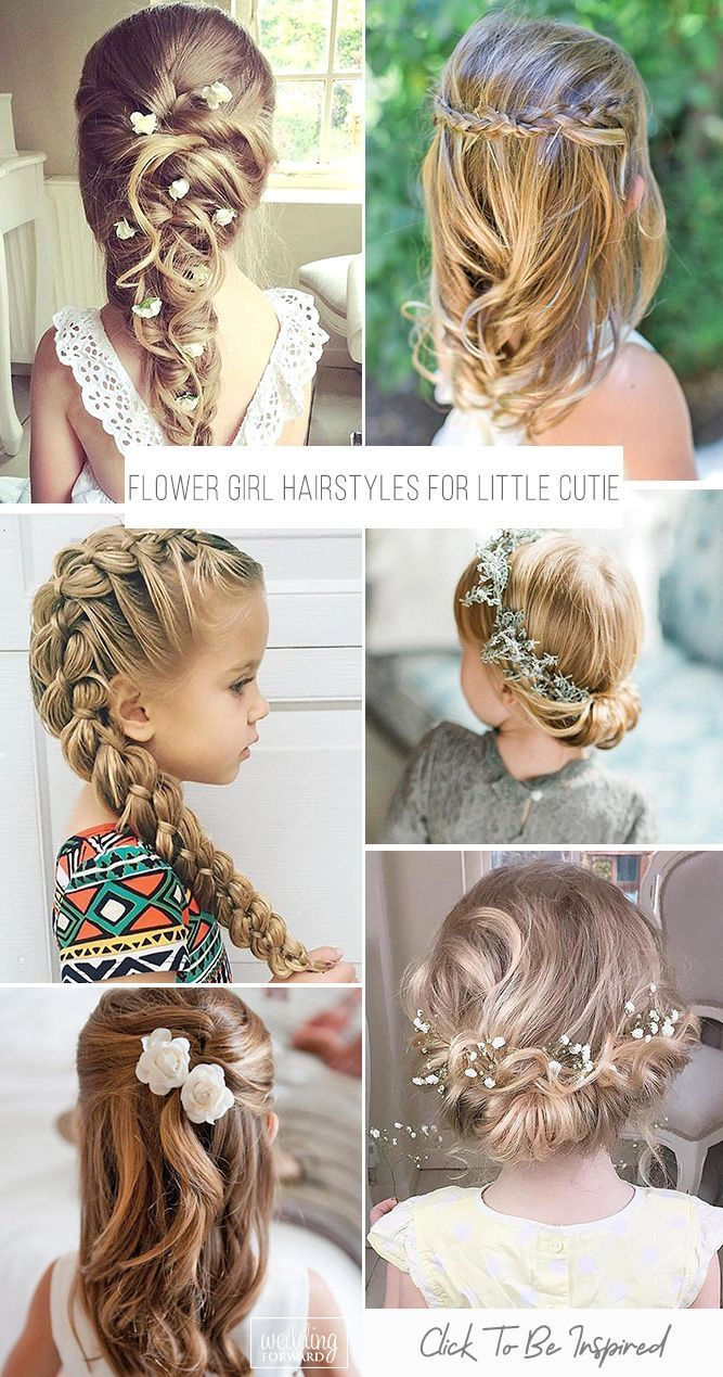 33 Cute Flower Girl Hairstyles 2020 Update Wedding Forward In 2020 Flower Girl Hairstyles Kids Hairstyles For Wedding Wedding Hairstyles For Girls