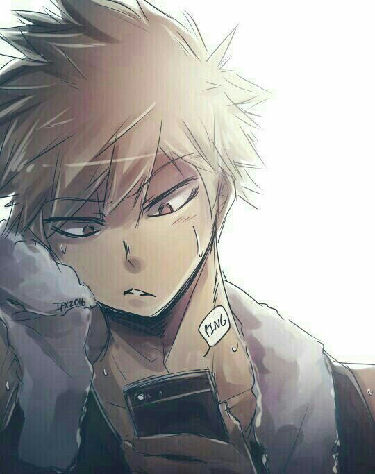 My Hero Katsuki Bakugou - Katsuki Bakugou x Reader(L) - First Kiss