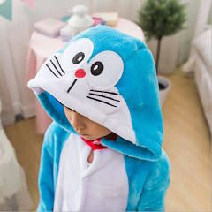 Children Animal Doraemon Cosplay Pajamas Kigurumi Unisex Costume