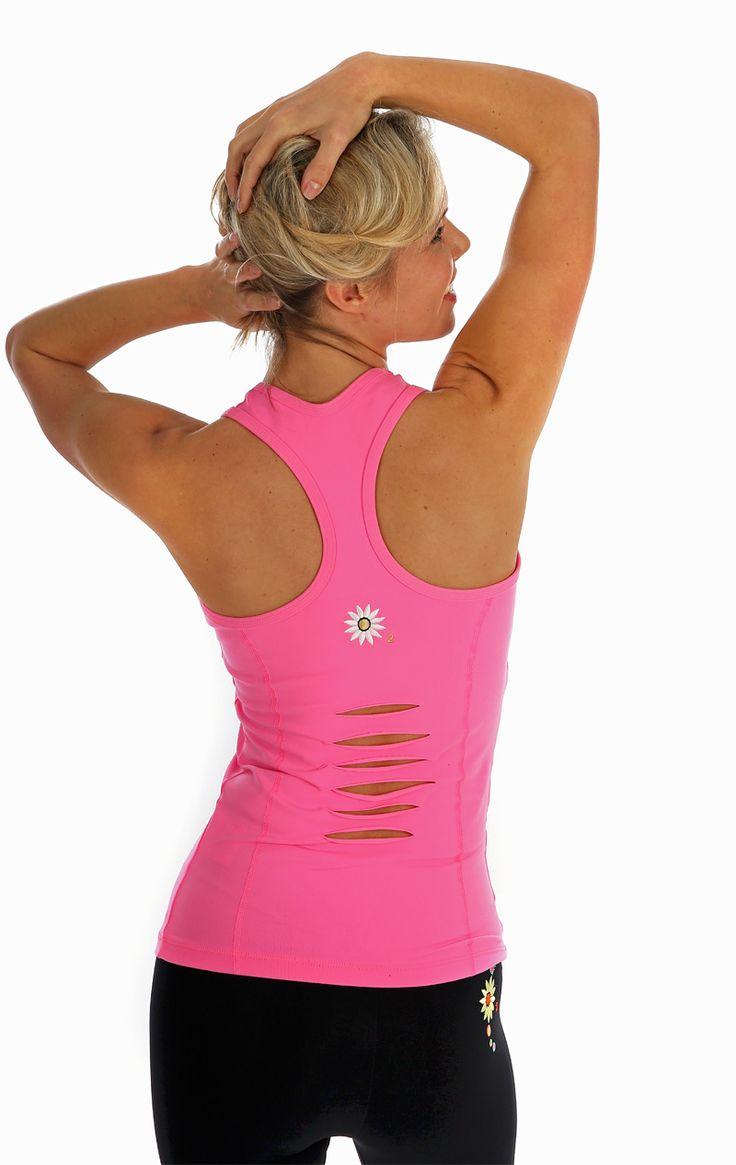 Margarita Ladder Back Vest in Barbie Pink | Daisy Fitness Wear