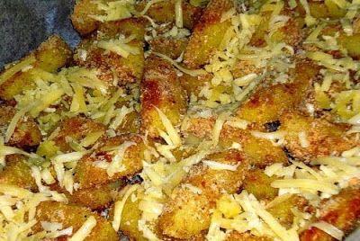 Ropogós tepsis sajtos sült krumpli