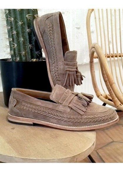 Chaussures basses Zair suédé taupe