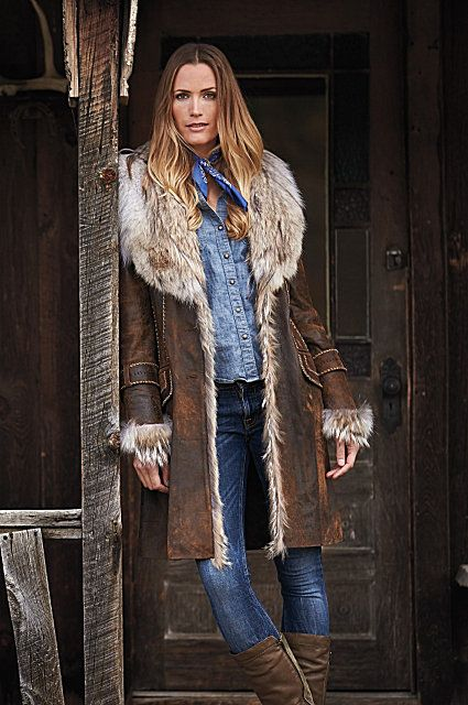 Georgia Distressed Lambskin Leather Coat | Baha Ranch