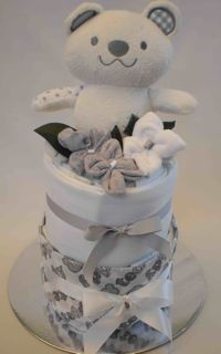 Teddy nappy cake - Adelaide baby gift