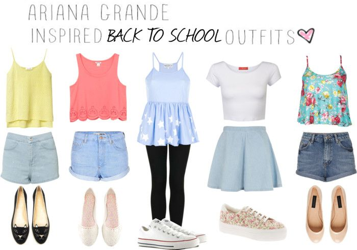 Ariana Grande inspired Back To School outfits. | Outfits ...