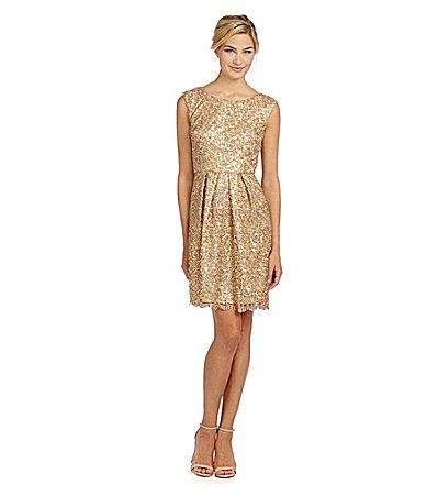 Black and gold dress dillards