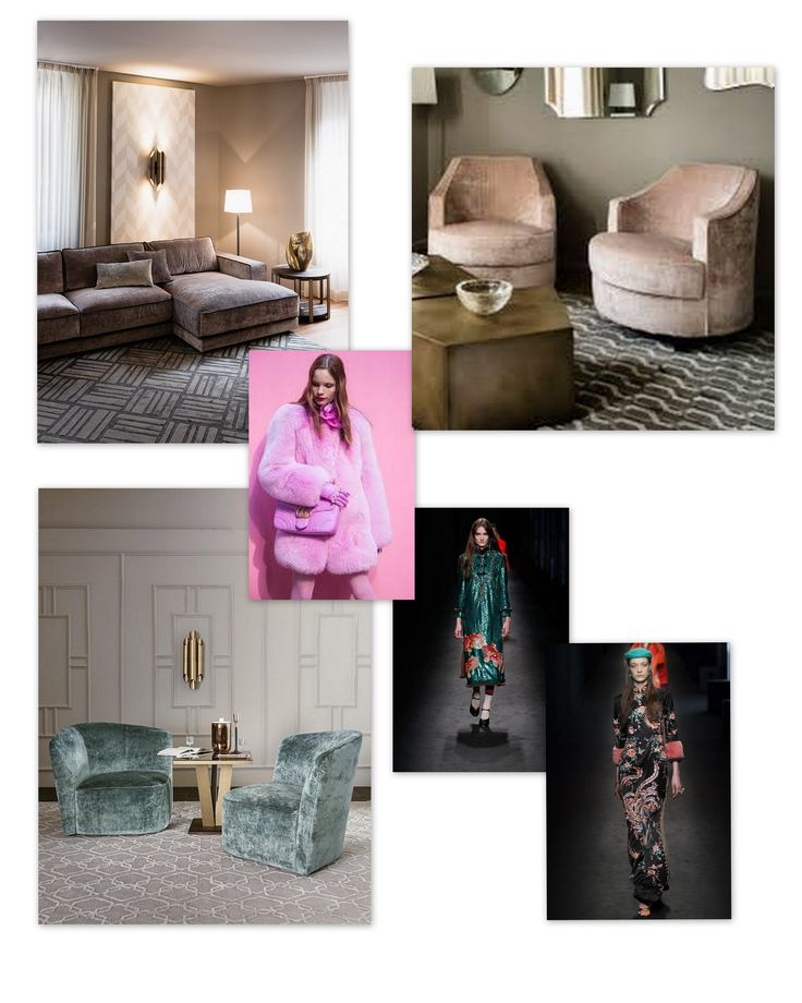 New trends:  Casamilano pre-fall 2016 / 2017. Pink & teal are the new trendy colours, used also by Gucci in occasion of the Fall / Winter Parade. In the picture: SUITE sofa and SOPHIE armchairs in pink velvet, CHLOE armchair in teal velvet, by Casamilano home collection.  #casamilano #pre-fall #gucci #trendycolours #newtrends #cool #fashion #homecollection