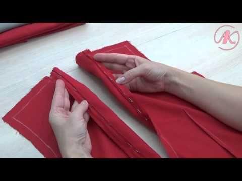 Обработка платья подкладкой. Как втачать потайную молнию - YouTube