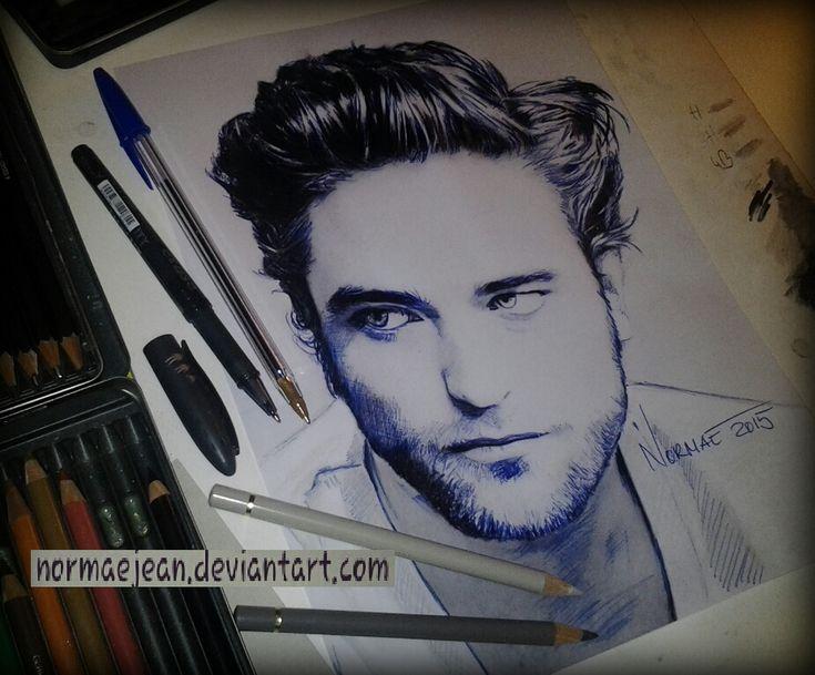 Normaearts portrait drawing Robert Pattinson by NormaeJean.deviantart.com on @DeviantArt