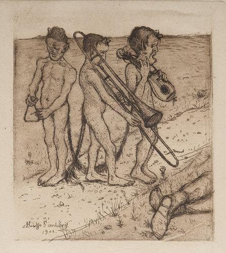 Artwork by Hugo Simberg, DISCORDS, Made of Etching (1900)