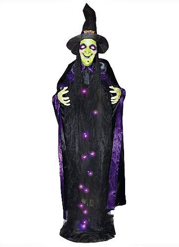 Halloween Witch Prop Light Up Outdoor Decoration With Sound Effect - witch decorations