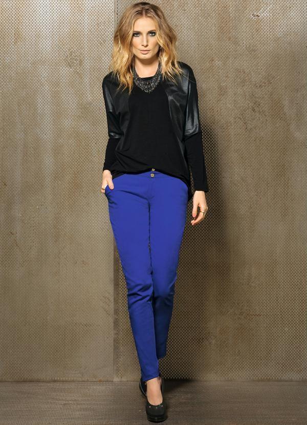 Calça Skinny Azul Royal - Quintess $109,99