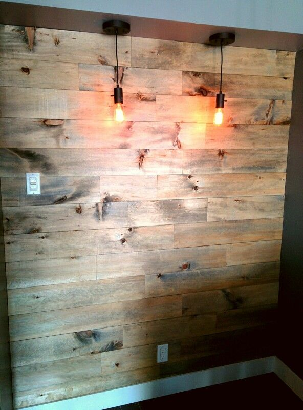 Mur style bois de grange