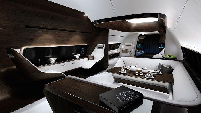 Mercedes and Lufthansa Create Luxury Private Jet interiors
