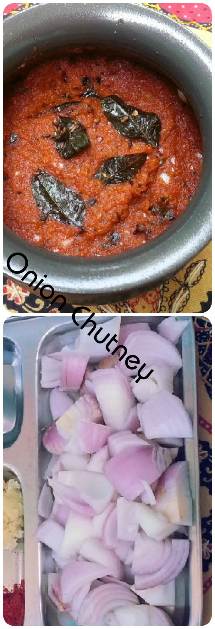 Onion Chutney-Super Spicy,Tang and sweet onion chutney http://www.krishrecipes.com/onion-chutney/