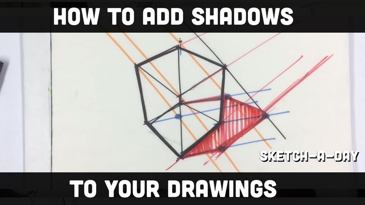 How to draw and shade shadows