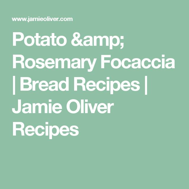 Potato & Rosemary Focaccia | Bread Recipes | Jamie Oliver Recipes