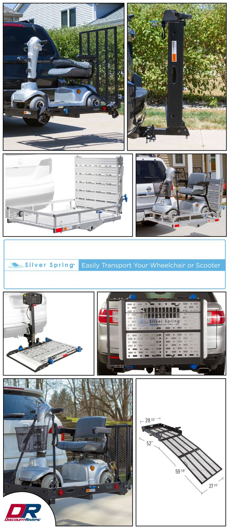 fea6e60b4b High-quality wheelchair lifts and carriers can transport your mobility  device on the outside of your vehicle