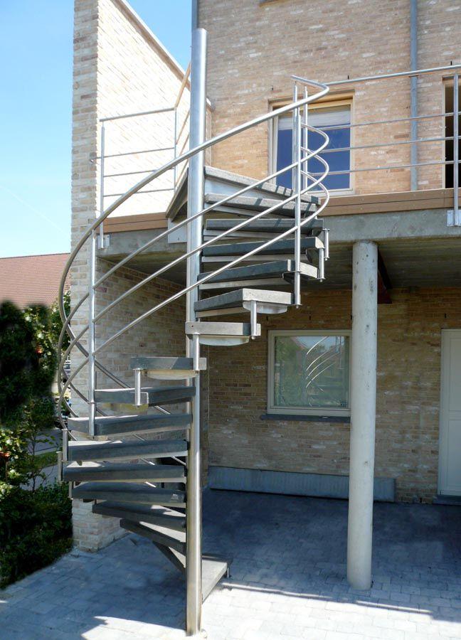 Outinox Escalier Colimacon Exterieur En Inox Buitentrap