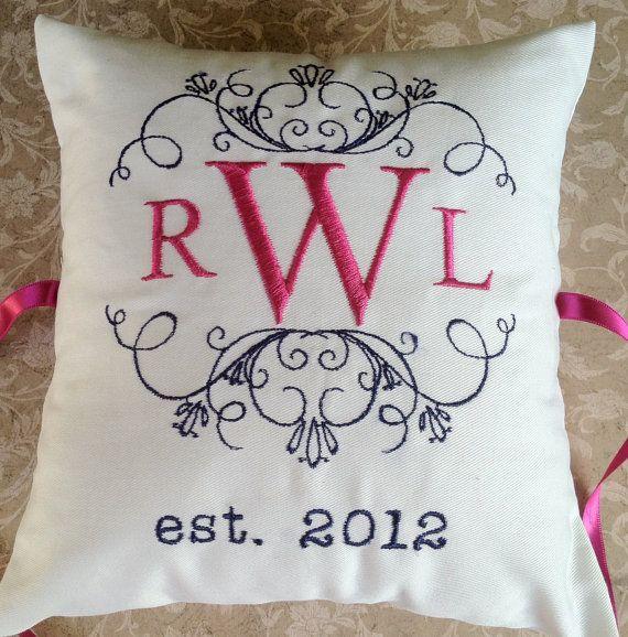 Personalized Ring Bearer Pillow III RB107 by ElegantThreadsEtc $32.95 & 19 best Ring Bearer Pillow Ideas images on Pinterest | Ring bearer ... pillowsntoast.com