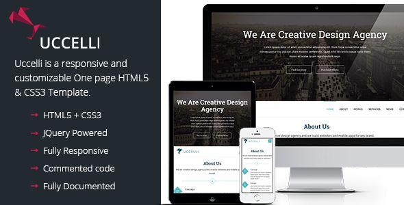 Uccelli One Page Responsive Wordpress Theme