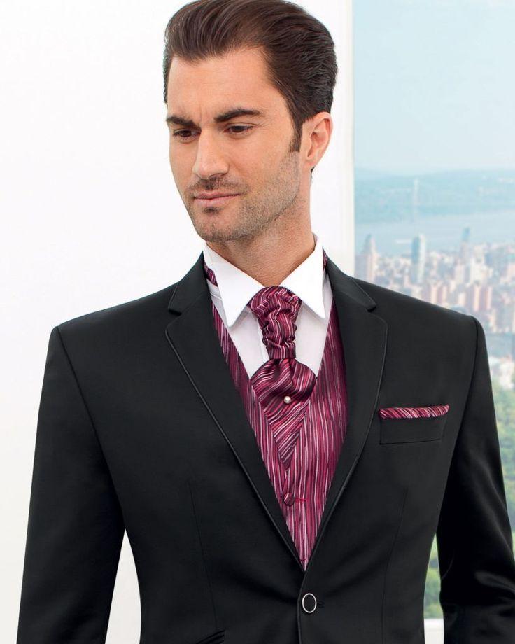 costume homme | Costume Homme 2 Boutons avec Passepoil Satin Noir MANTA 150