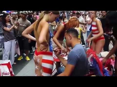 Gibraltar Face Body Paint Festival Day Hotscope 1