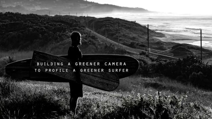Building a greener camera to profile a greener surfer.
