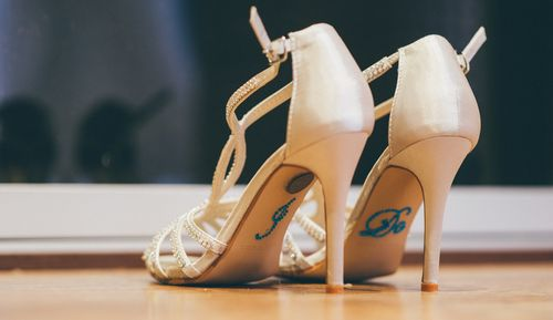 Bridal wedding shoes - I Do Sixpence
