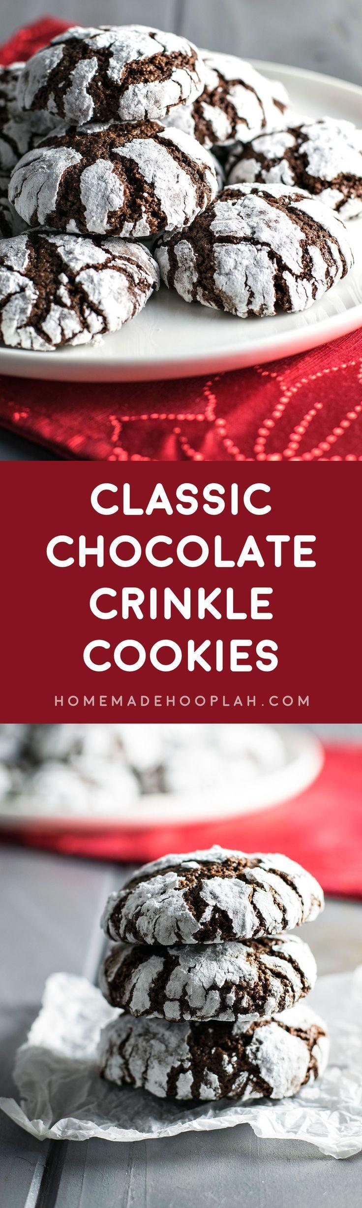 Galletas de chocolate craqueladas, cookies