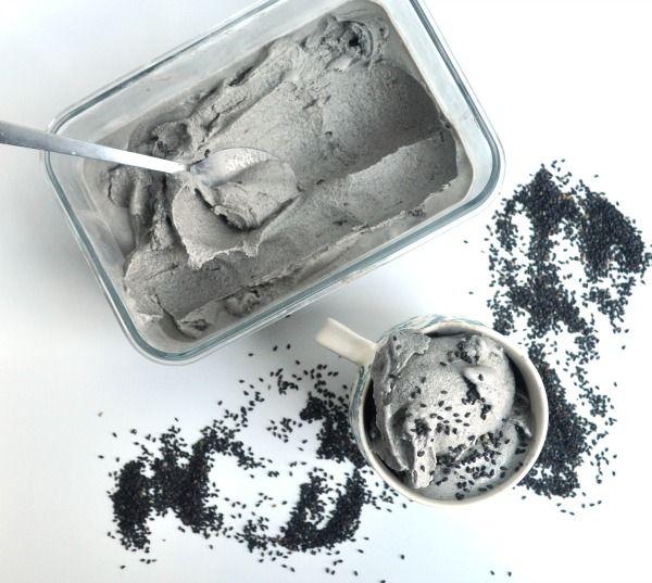 Black Sesame Ice Cream Recipe