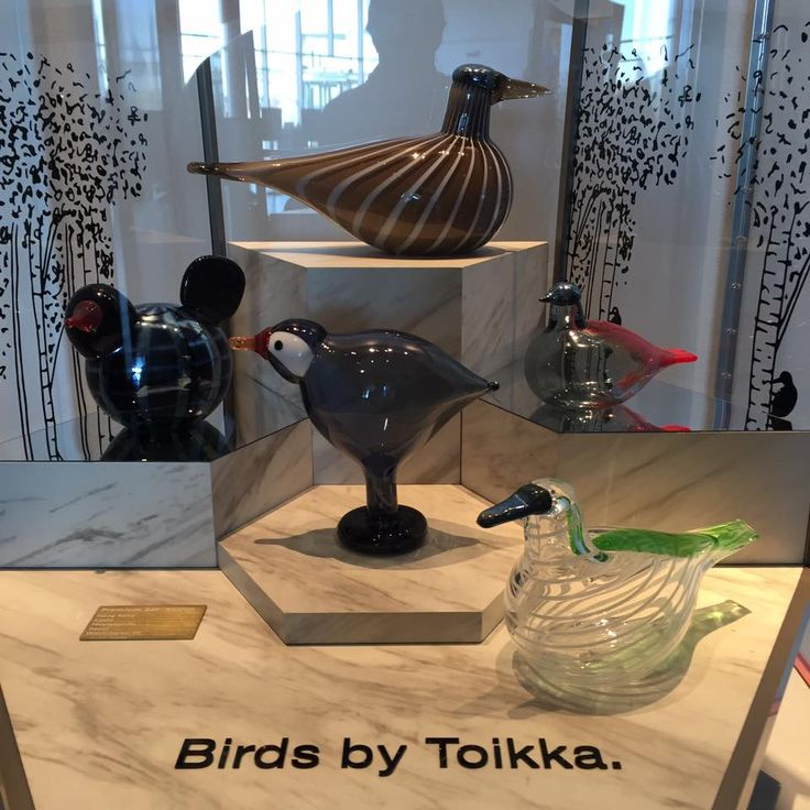 Oiva Toikka, 5 Cities birds (Kyoto, Hong Kong, Seoul, Washington D.C., Minnesota) in presentation box, 2016