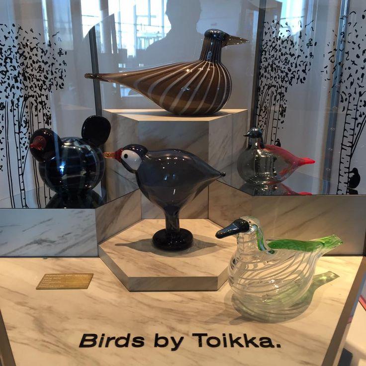 Oiva Toikka, 5 Cities birds (Kyoto, Hong Kong, Seoul, Washington D.C., Minnesota) in presentation box, 2016